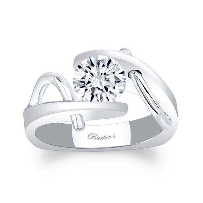 Solitaire Channel Set Ring Image 1