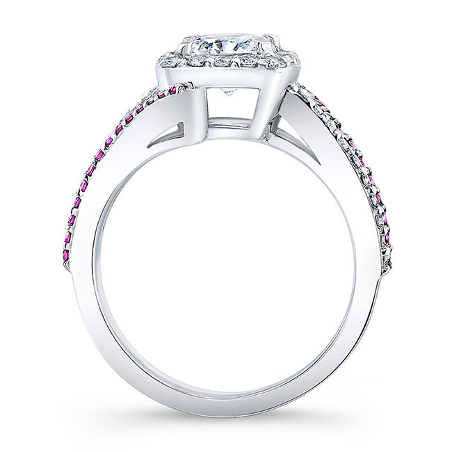 Pink Sapphire Cushion Cut Engagement Ring 8005LPS Image 2