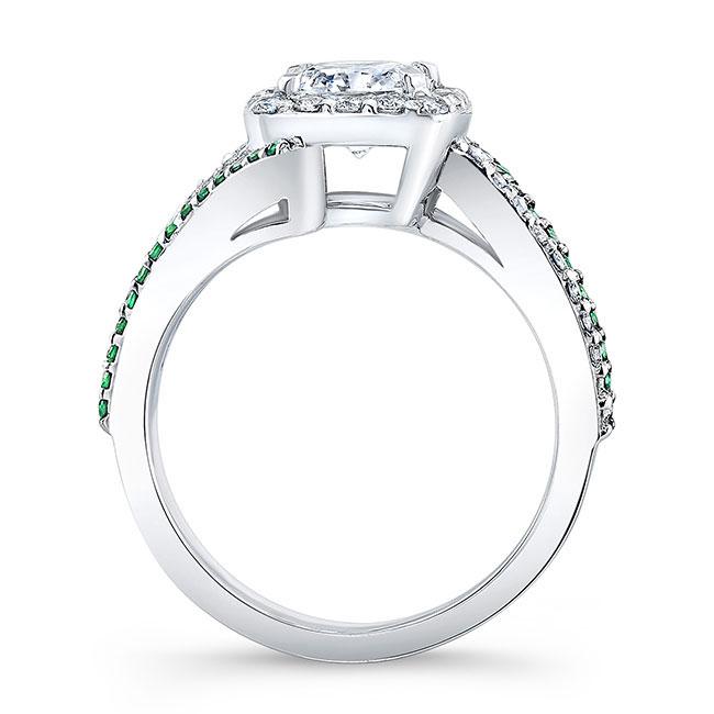 Tsavorite Cushion Cut Engagement Ring 8005LTSV Image 2