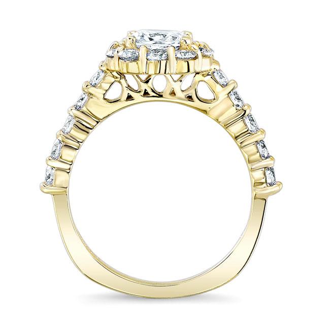 Halo Moissanite Engagement Ring MOI-8008L Image 2