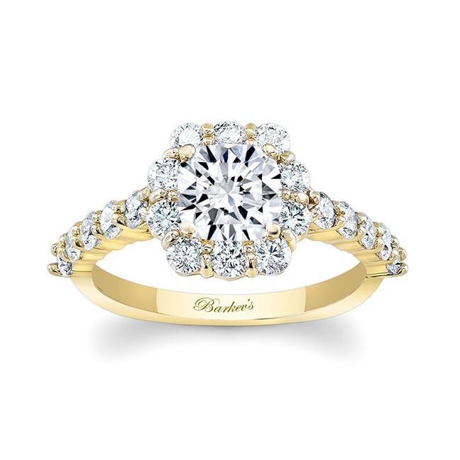 Halo Moissanite Engagement Ring MOI-8008L Image 1