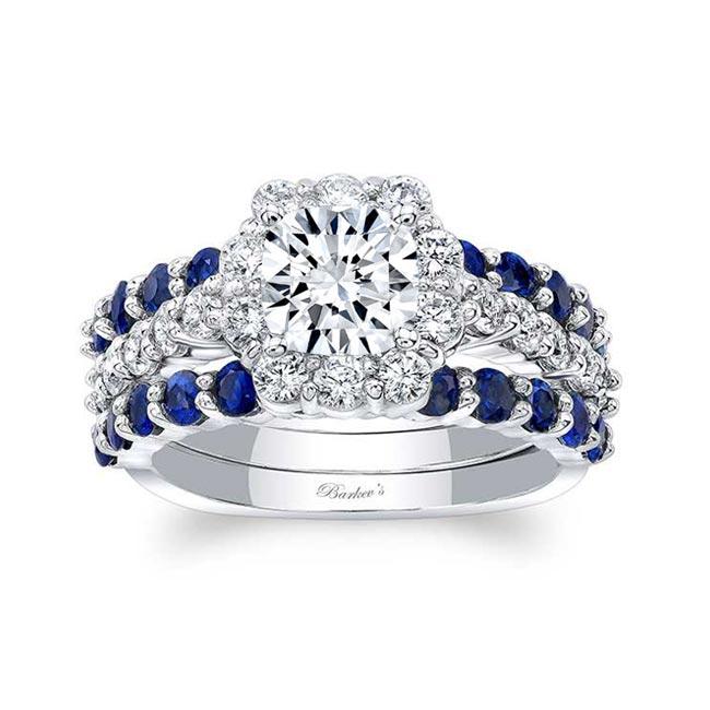 Blue Sapphire Bridal Set 8008S2BS