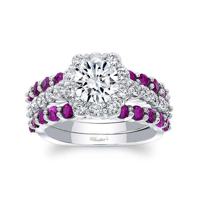 Pink Sapphire Bridal Set 8008S2PS