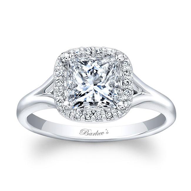 Princess Cut Halo Ring Image 1