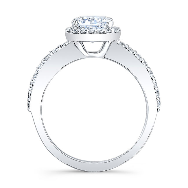 1 Carat Cushion Cut Halo Engagement Ring Image 2