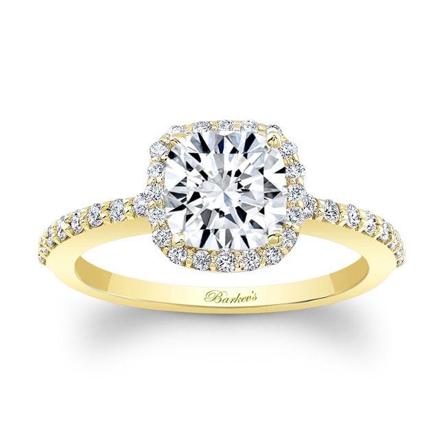 1 Carat Cushion Cut Halo Engagement Ring Image 1