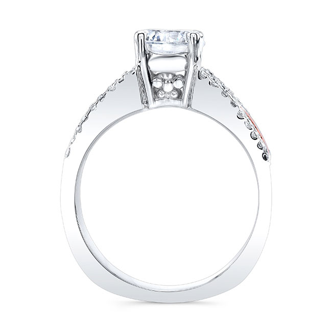 Round Moissanite Channel Set Engagement Ring Image 2