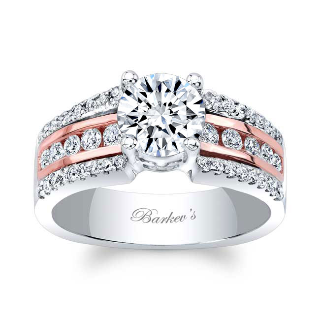 Round Moissanite Channel Set Engagement Ring