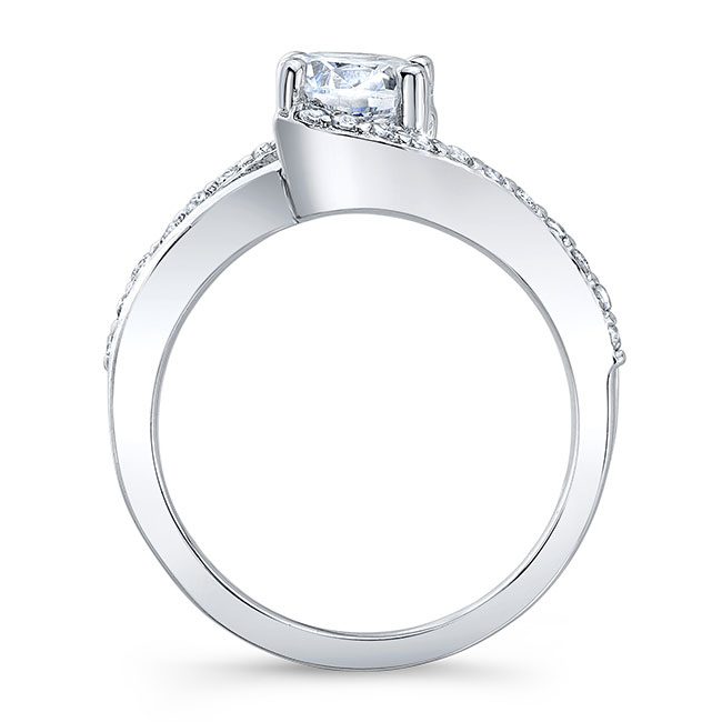 Curved Engagement Ring Image 2