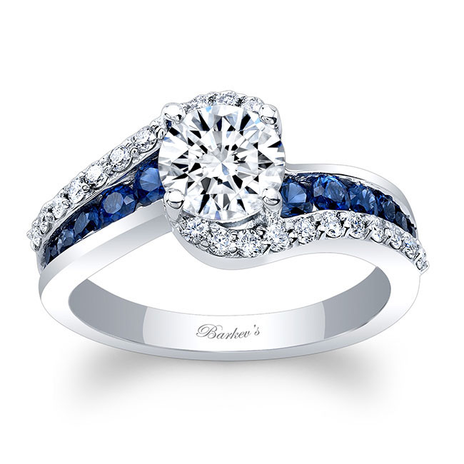 Moissanite And Sapphire Ring