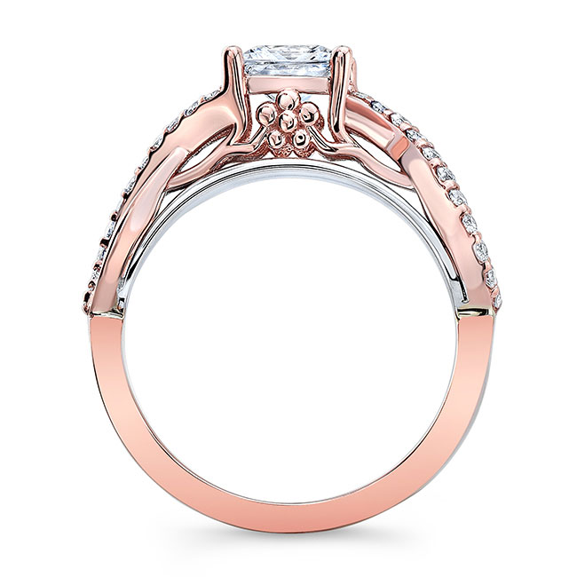 Moissanite Cathedral Engagement Ring Image 2