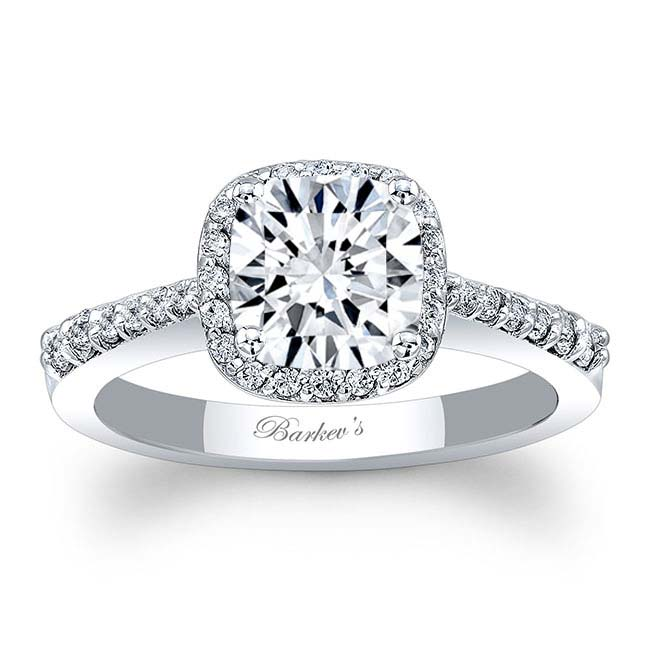 Cushion Cut Halo Engagement Ring 8019L