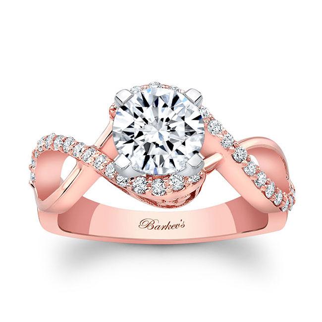 Infinity Twist Engagement Ring
