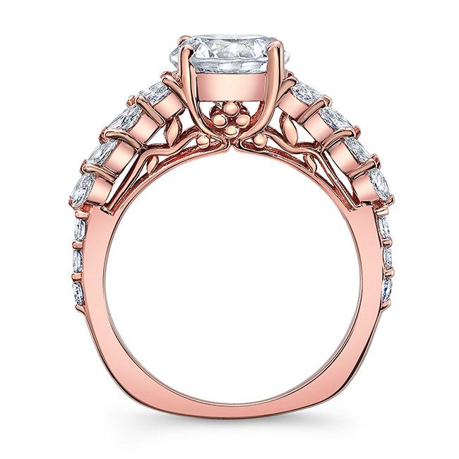 Unique White Gold Engagement Ring 8022L Image 2