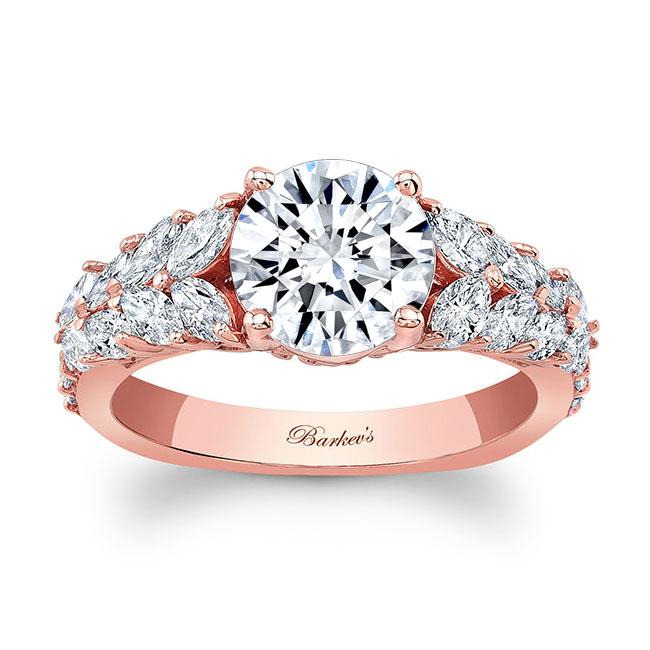 Unique White Gold Engagement Ring 8022L
