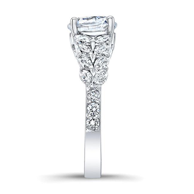 Unique White Gold Engagement Ring 8022L Image 3