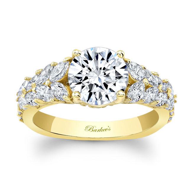 Unique White Gold Engagement Ring 8022L Image 1