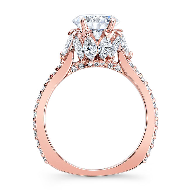 Engagement Ring With Marquise Stones 8023L Image 2