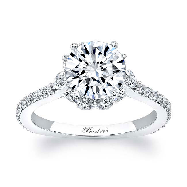 Engagement Ring With Marquise Stones 8023L