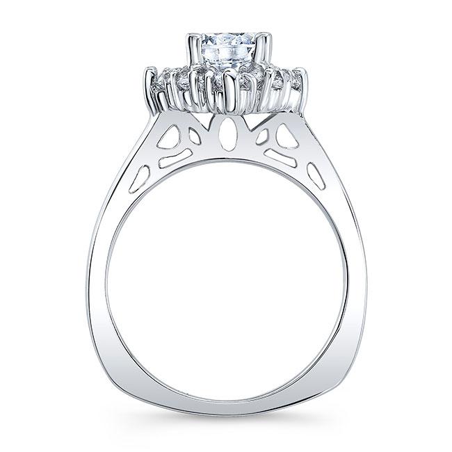 Round Halo Moissanite Engagement Ring Image 2