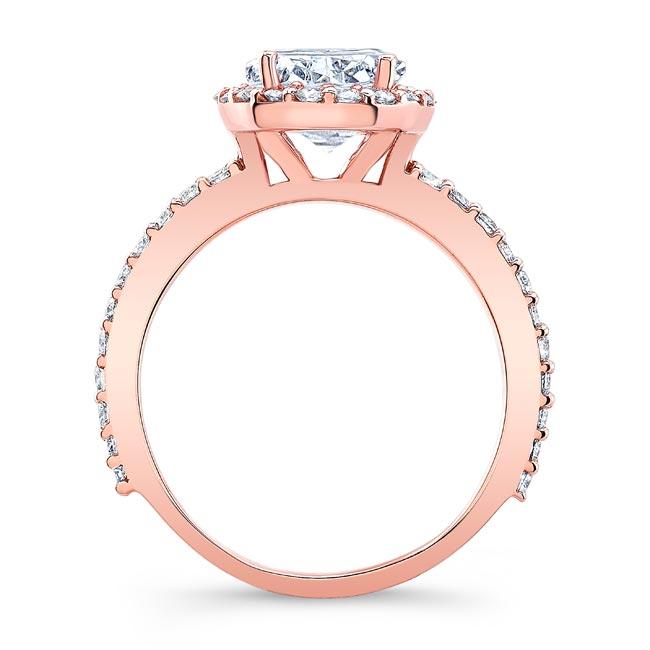 2 Carat Oval Halo Engagement Ring Image 2