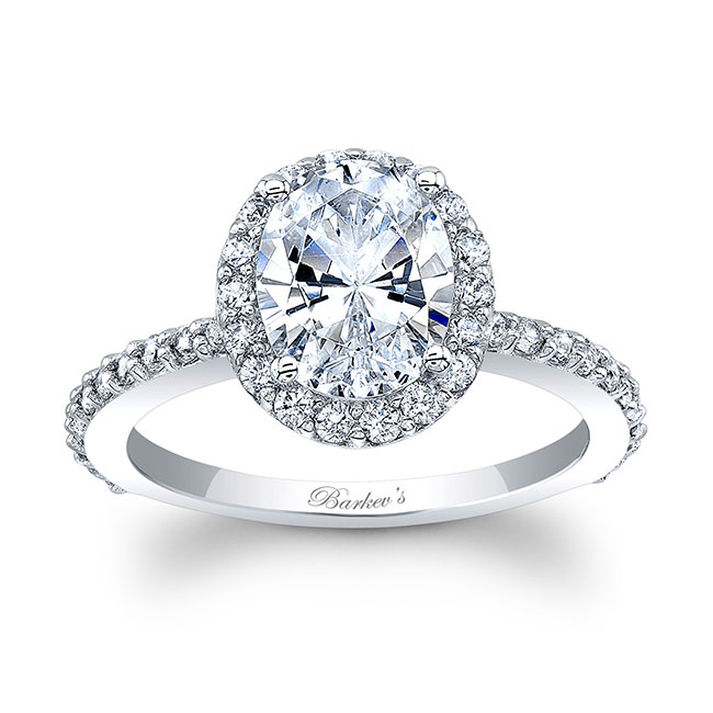 2 Carat Oval Halo Engagement Ring