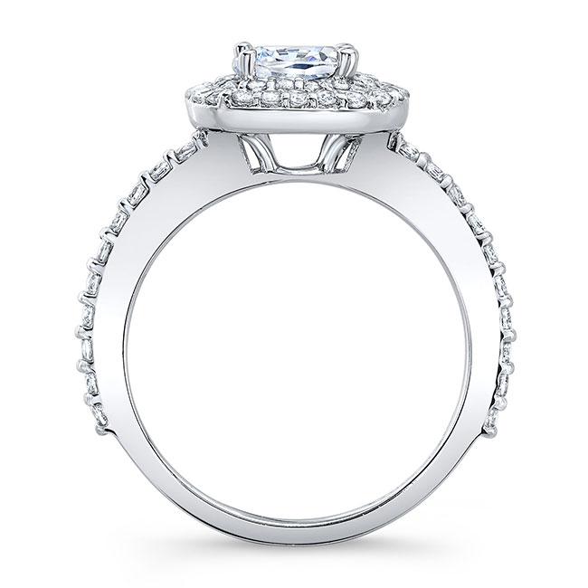 Cushion Cut Double Halo Moissanite Engagement Ring Image 2