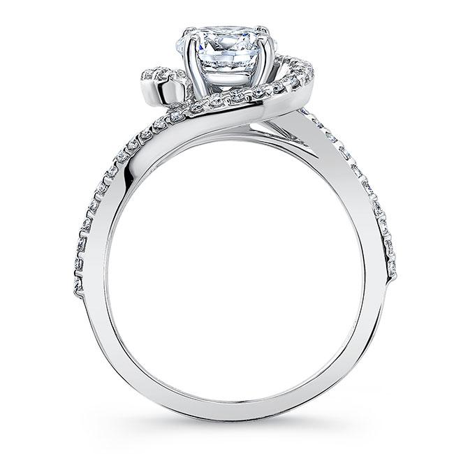Half Halo Moissanite Engagement Ring Image 2