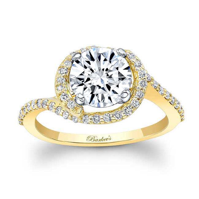 Half Halo Moissanite Engagement Ring Image 1