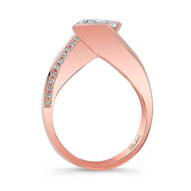 Vintage Bypass Moissanite Ring Image 2
