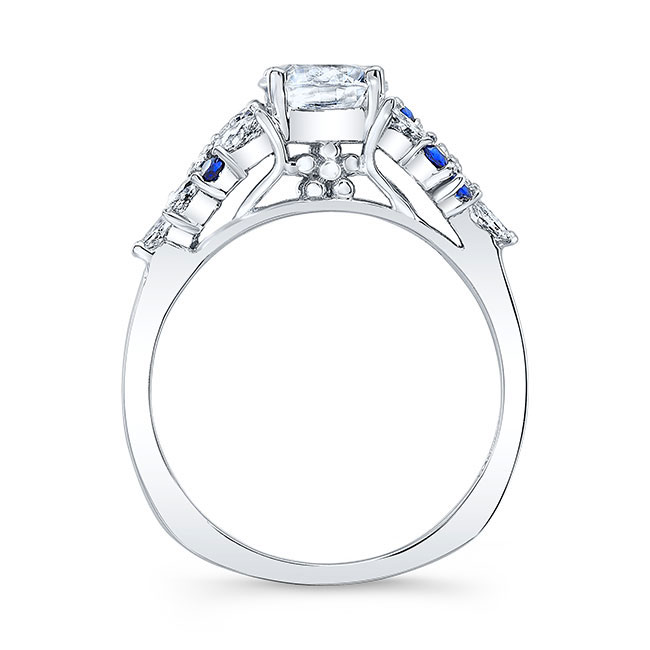 Blue Sapphire Bridal Set 8044SBS Image 2