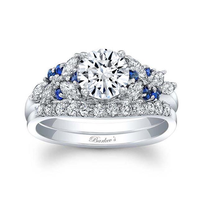 Blue Sapphire Bridal Set 8044SBS