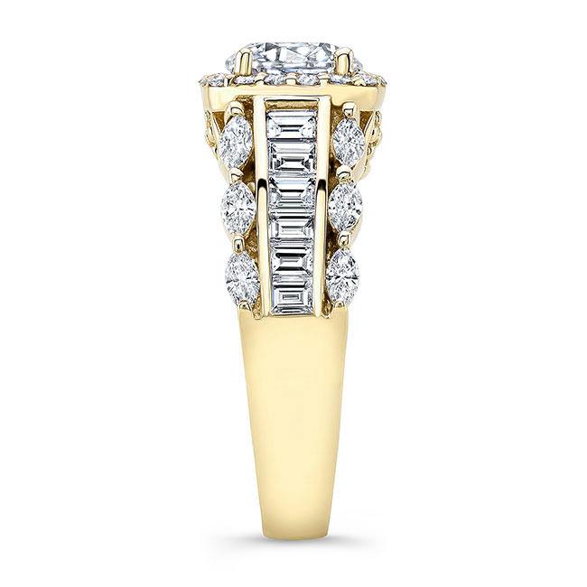 Moissanite Baguette Ring Image 3