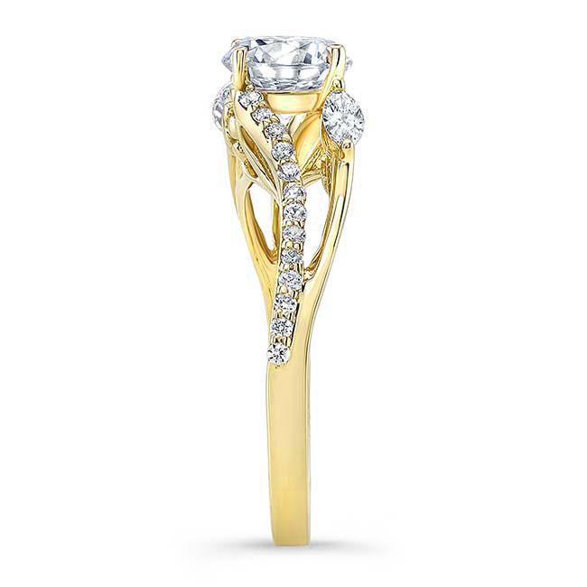 Split Shank Moissanite Ring Image 3