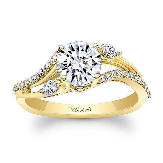 Split Shank Moissanite Ring Image 1