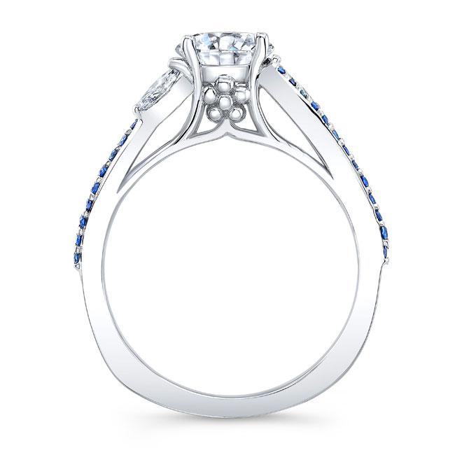 Split Shank Diamond And Sapphire Ring Image 2