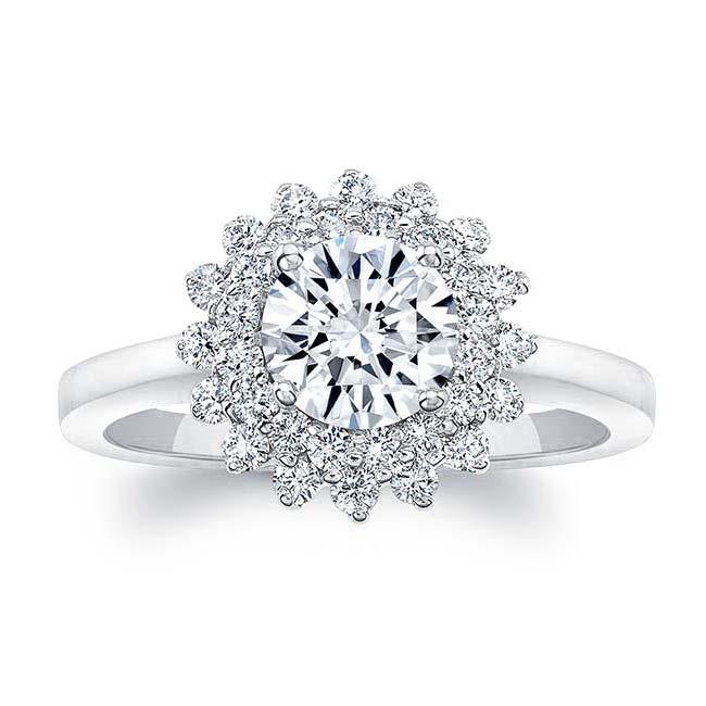 Starburst Moissanite Ring