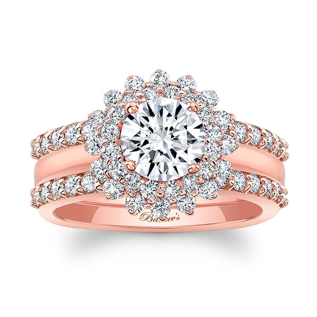 Starburst Bridal Set With Two Bands