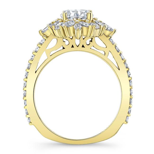 Marquise Halo Moissanite Engagement Ring Image 2
