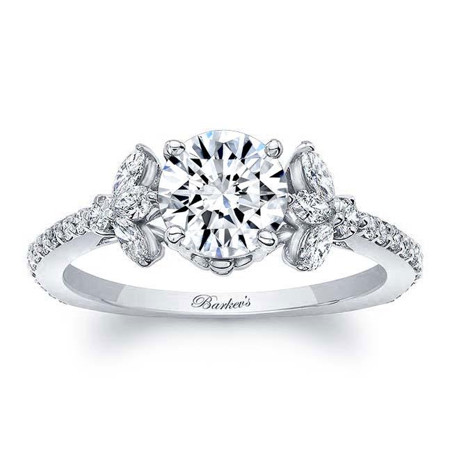 Leaf Moissanite Engagement Ring