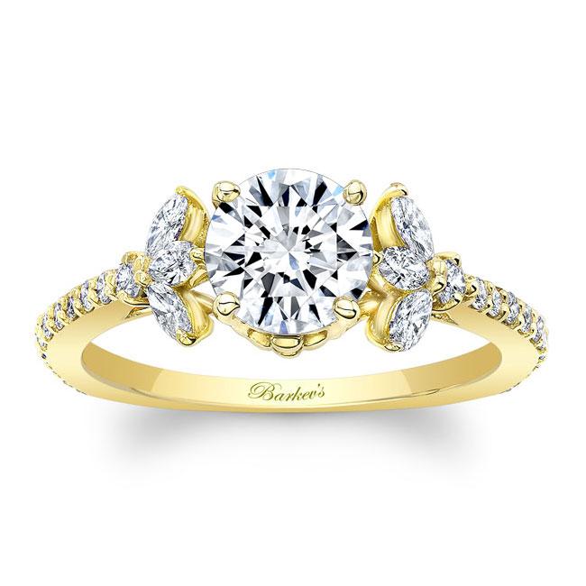 Leaf Moissanite Engagement Ring Image 1