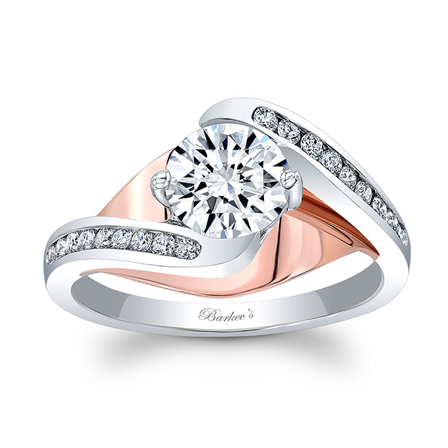 Split Shank Cathedral Engagement Ring 8069L