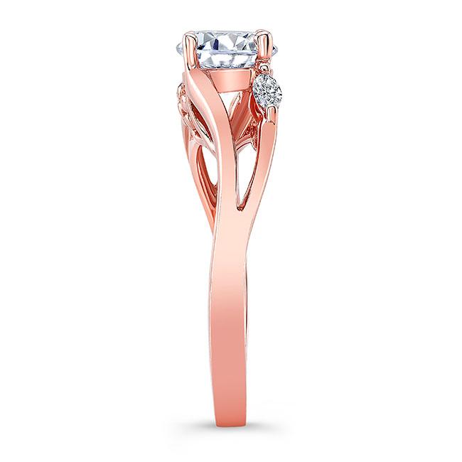 V Shaped Moissanite And Diamond Ring Image 3