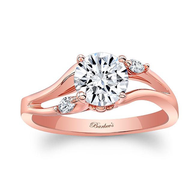 V Shaped Moissanite And Diamond Ring Image 1