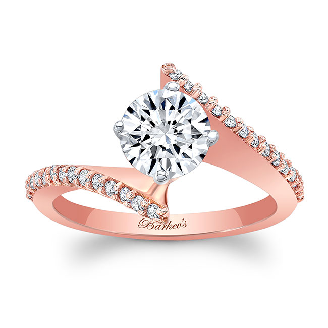 Modern Bypass Engagement Ring Image 1
