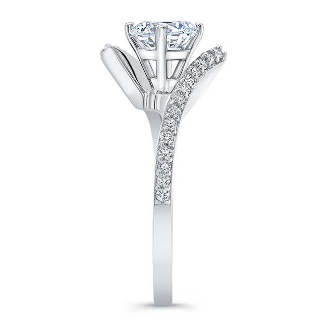 Modern Bypass Moissanite Engagement Ring Image 3