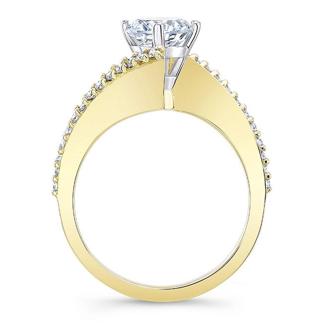 Modern Bypass Moissanite Engagement Ring Image 2
