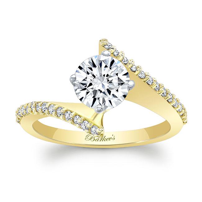 Modern Bypass Moissanite Engagement Ring Image 1