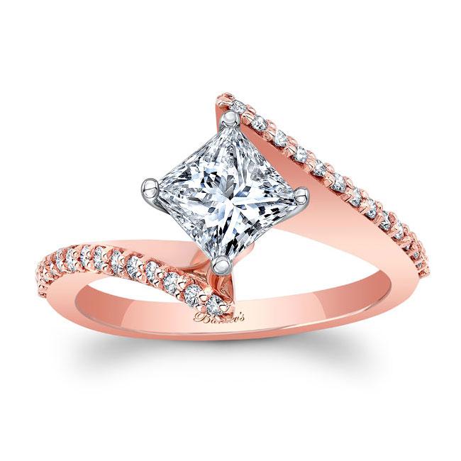 Princess Cut Moissanite Bypass Ring