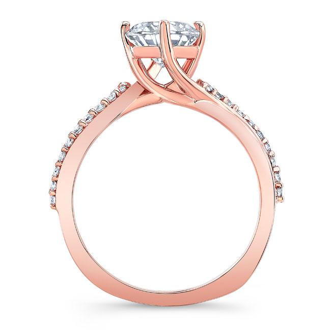 Princess Cut Moissanite Twist Engagement Ring Image 2
